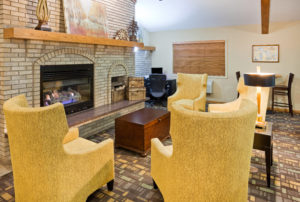 AmericInn Ironwood-Lobby Fireplace